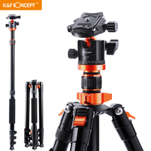 K&F Concept Camera Tripods for DSLR Aluminum Travel Vlog Tripod Monopod with 360 Degree
