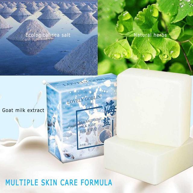 Moisturizing Oil Control Sea Salt Soap Makeup Removal Mite Pores Acne Sulphur Wash Face Goat Milk Soap Pimple Face Care TSLM2