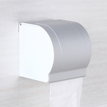 Household Hotel Bathroom Aluminum Tissue Storage Box Toilet Roll Paper Holder Waterproof Punch-free Paper Organizer Case недорого