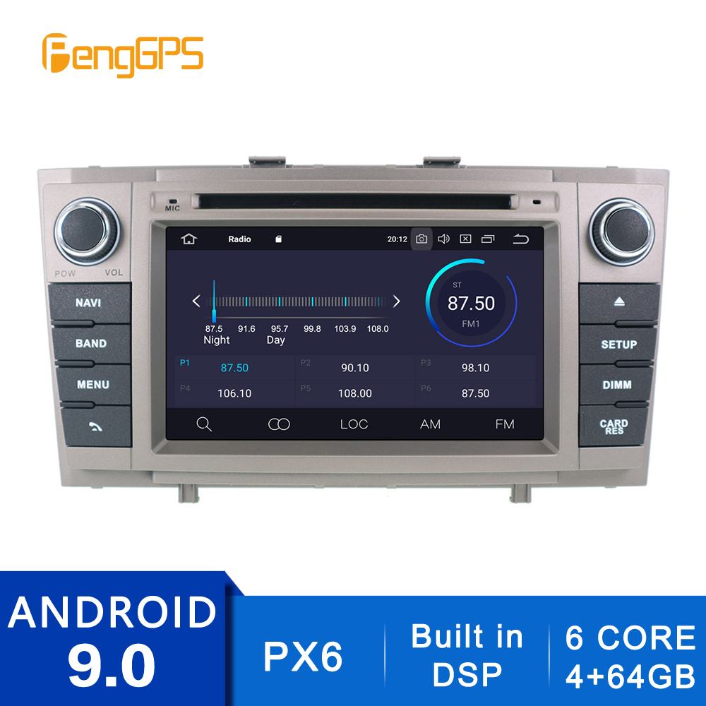 Android 10.0/9.0 Car CD DVD Player For Toyota Avensis T27 2009-2015 GPS Navigation Built-in DSP 2Din Stereo Multimedia  Headunit