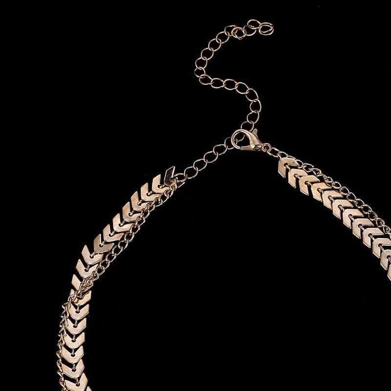 שרשרת מתכת מטוסי יוקרה תכשיטי קולר פופולרי מתנות נשים סטי גיאומטרי ייחודי שרשרת אופנה צווארון שרשראות