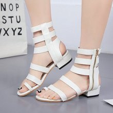 Explosion sandals 2019 summer new ladies sandals thick with high shoes