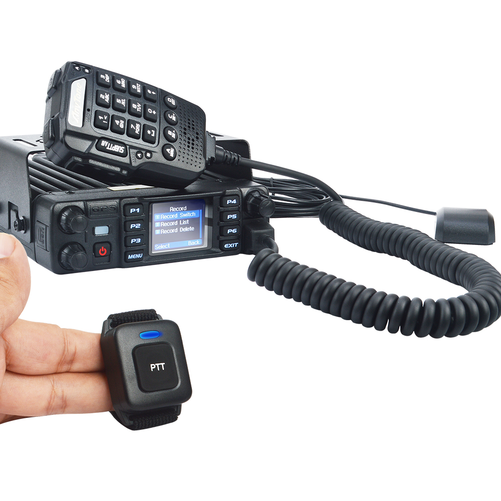 Anytone Mobile Transceiver AT-D578UVPRO Dual Band Digital DMR GPS APRS Bluetooth Voice Record 55W Car Radio W/USB Program Cable