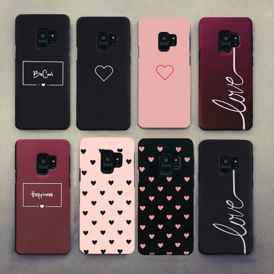 For Samsung A50 S10 S8 S9 S8Plus S9Plus Case Cover For Samsung Galaxy S8 S9 S10 Plus A50 Case Cute Couples Love Heart Hard Case
