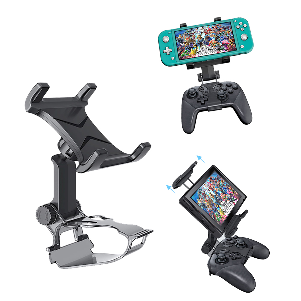 Switch Pro Controller Clip Mount Holder Pro Controller Adjustable Clamp Handle Rotate Bracket for Nintend Switch  Lite Console