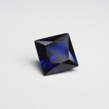 9*9mm 5 sztuka worek kwadratowa księżniczka Cut Royal Blue sapphire loose kamień do pierścień wyrobu tanie tanio meisidian Niebieski GDTC Grzywny