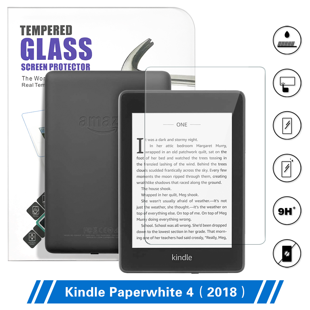 DUNNO For Amazon Kindle Paperwhite 10th Generation Screen Protector For 2018 Kindle Paperwhite 4 Tempered Glass 6 Inch Film