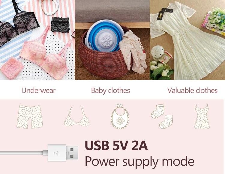 Jiqi mini portátil máquina de lavar roupa