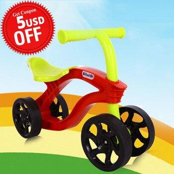 4 koła dla dzieci Push skuter rower równowagi Walker niemowląt skuter rower dla dzieci na świeżym powietrzu zabawki do jeżdżenia samochodów odporne na zużycie