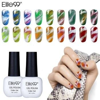 Elite99 Veränderbar Nail art Gel Polnisch Marmor Halo Wirkung Gel Top Base Coat Nagellack Tränken Weg Maniküre Gel Für nägel Lack
