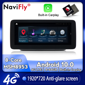 NaviFly New Android 10 Car dvd radio multimedia Player for Mercedes Benz B class W246 B180 B220 B200 B250 2012-2017 NTG 4.5/5.0 image