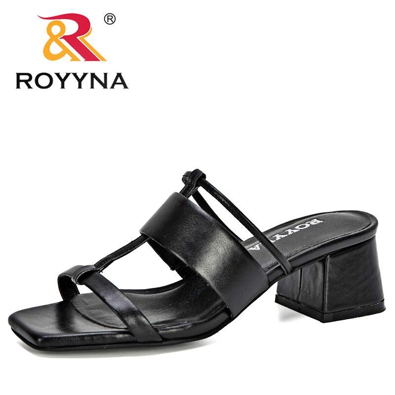 ROYYNA/Новинка 2020 года; дизайнерские женские шлепанцы из микрофибры с открытым носком; Вьетнамки; женские сандалии на плоской подошве; пляжная обувь; женская обувь для отдыха|Тапочки|   | АлиЭкспресс