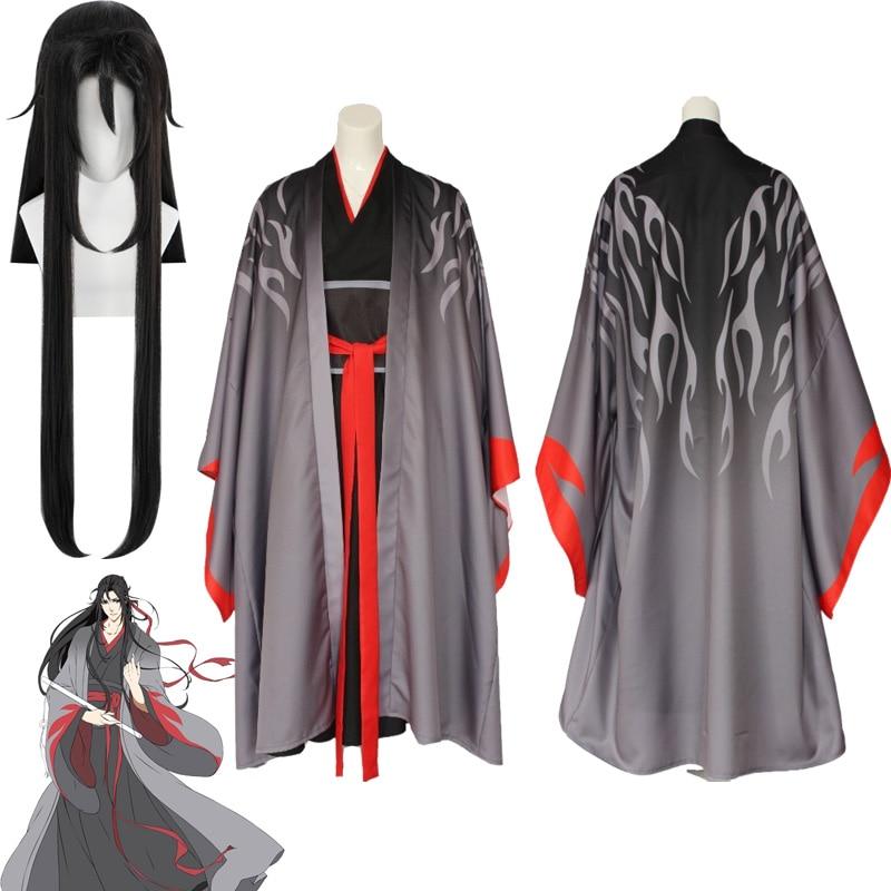 2019 New Wei Wuxian The Yiling Patriarch Cosplay Grandmaster Of Demonic Cultivation Costume Wei Wuxian Mo Dao Zu Shi Costume Men