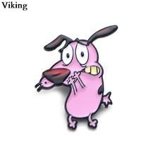 1 pçs dos desenhos animados cão esmalte broches emblemas dos desenhos animados metal lapela pino mochila pinos de colar para mulheres masculinas g0370