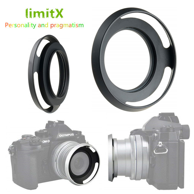 מתכת פרקו עדשת הוד עבור ניקון Z50 מצלמה עם NIKKOR Z DX 16 50mm f/3.5  6.3 VR עדשה