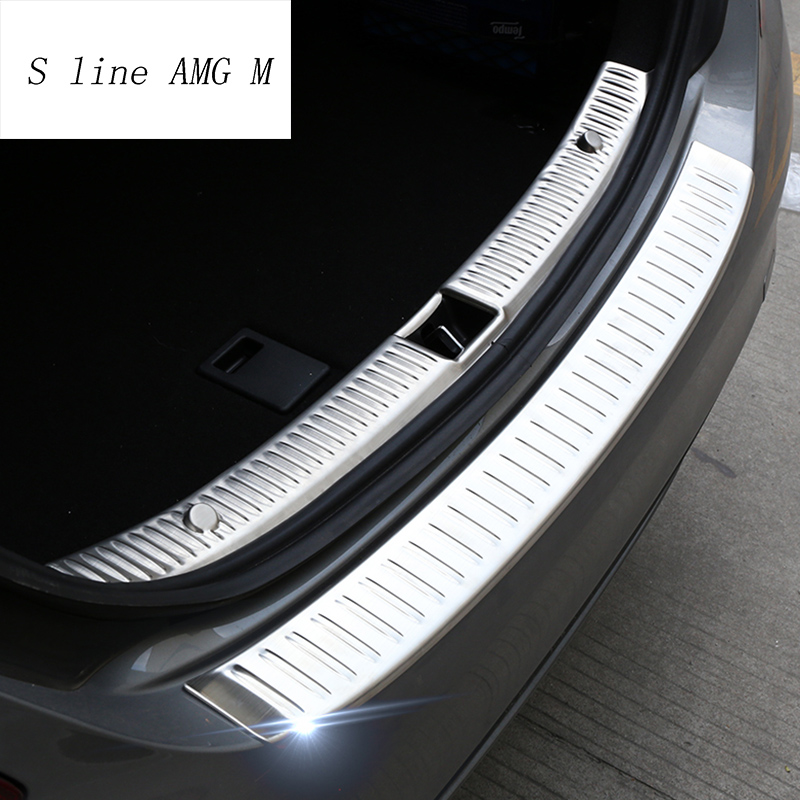 Car Styling For Mercedes <font><b>Benz</b></font> C class <font><b>W205</b></font> Accessories Stickers Covers Rear Trunk Trim <font><b>Bumper</b></font> Protector Auto Protection Panel image