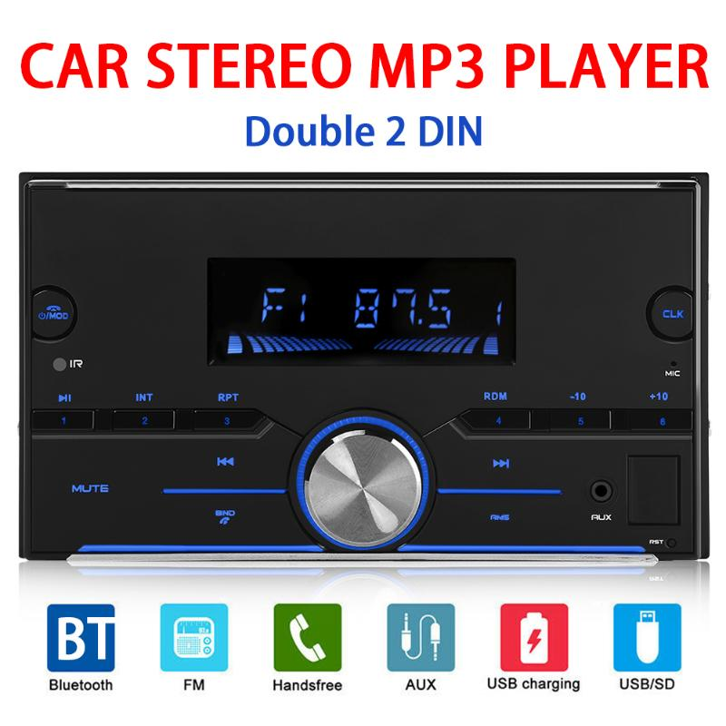 2 Din Autoradio Bluetooth Car Stereo MP3 Auto Multimedia Player Aux FM Input Radio Receiver 4*25W LCD Screen image