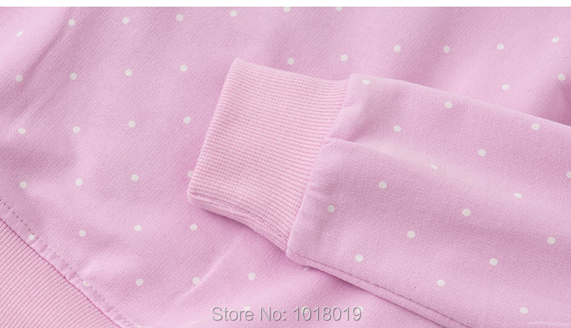 H3a17dfc272c54513afc71ca56d8a52a4t Bebe Girls s Fleeces Sweatshirt 100% Terry Cotton Sweater Children t shirt Kids Hoodies Blouses Baby Girl Clothes Dots Flower