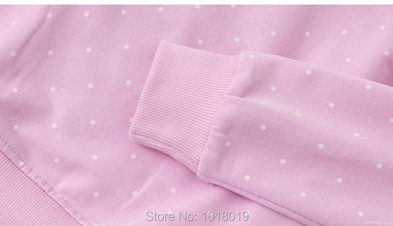 Bebe Girls Tops Fleeces Sweatshirt 100% Terry Cotton Sweater Children t shirt Kids Hoodies Blouses Baby Girl Clothes Dots Flower 4
