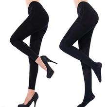 Sexy Women Pantyhose/Ninth Pants Thicken Stretch Footed Pantyhose Ninth Warm Leggings One Size Black