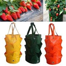 1Pcs Garden Supplies Strawberry Planting Growing Pot Side Bag Multi-Mouth Container Bags Grow Planter Root Bonsai Garden Supplie