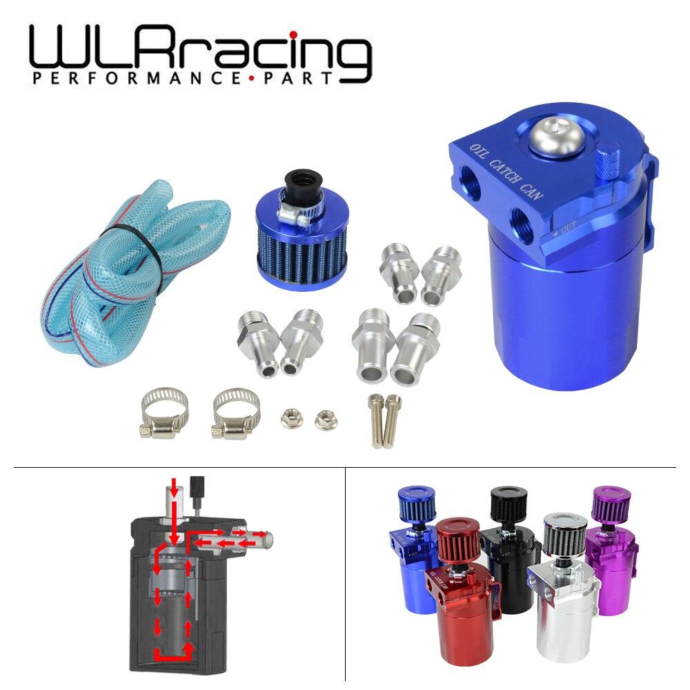Wlr-Verbijsterd Aluminium Olie Catch Kan Reservoir/Olie Tank Met Filter Universal 9 Mm/13 Mm /15 Mm Fittings WLR-TK64