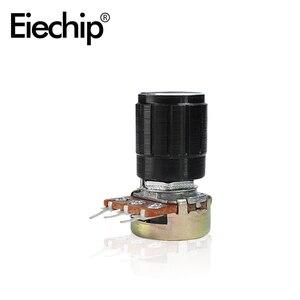 5pcs/lot WH148 15mm Shaft Amplifier rotary potentiometer variable resistor black knob kit B10K 1K 2K 5K 20K 50K 100K 250K 500K