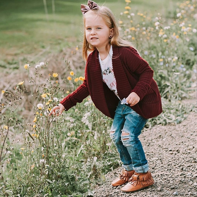 Knitted Cardigan Jacket Baby Solid Sweater Baby Sweater Coat Girls Cardigan Girls Fall Sweaters Toddler Kids Baby Girls Outfit 4
