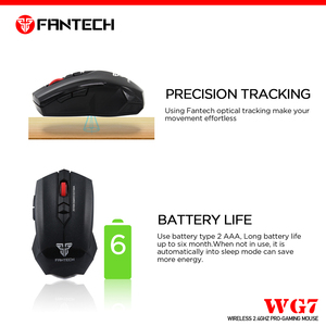 Image 3 - FANTECH WG7 Wireless 2.4GHz Mouse 2000 DPI 6 Macro Optical Mice 2.4 GHz 10M Remote Control Distance Mouse Gamer