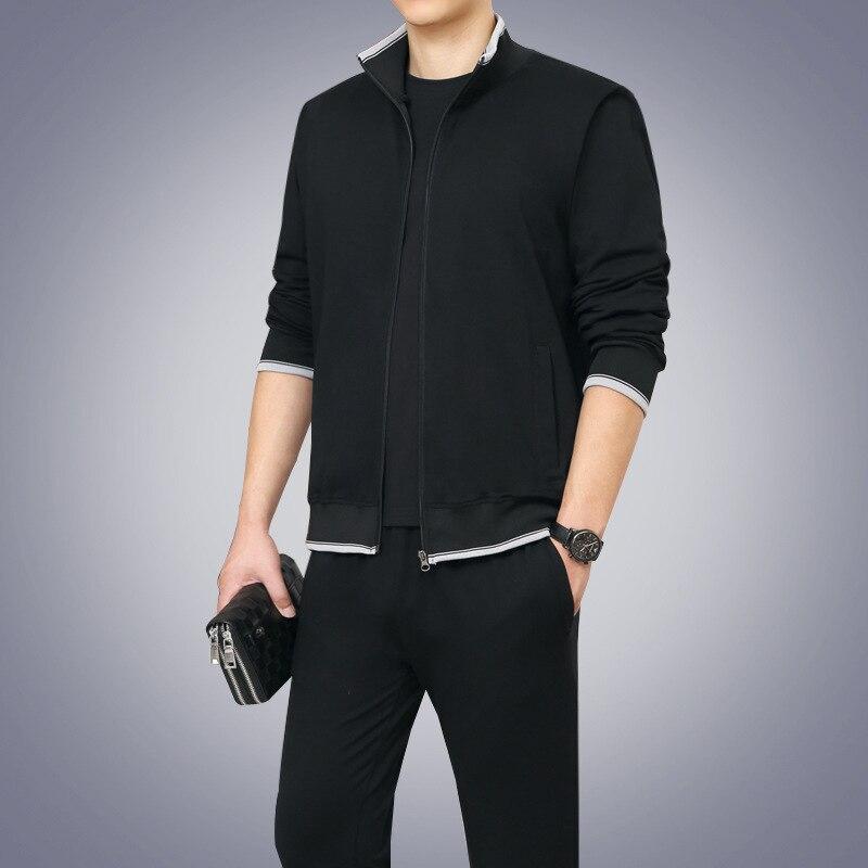 Cross Border For Autumn New Style Korean-style Hoodie Coat Men Leisure Sports Suit Men's Trend Two-Piece Set Men'S Wear