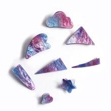 цены 2019 New Women Girls Cute Acetate Starry Colorful Geometric Hair Clips Hairpins Hair Claws Barrettes Headbands Hair Accessories