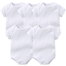 5 шт детский хлопковый комбинезон с коротким рукавом на возраст