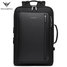 WILLIAMPOLO erkekler Lüks sırt çantası Çok Fonksiyonlu Su Geçirmez seyahat Iş anti hırsızlık sırt çantası USB Şarj seyahat not defteri Çantası