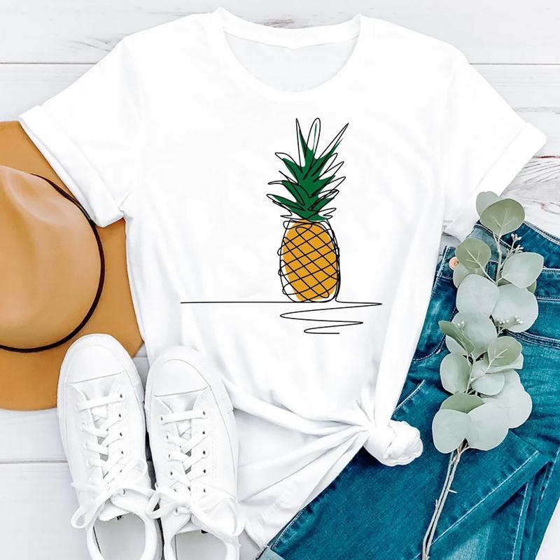 2021 Beach Holiday Summer Short Sleeve Women Cartoon Strawberry Cute Fashion Clothes Print Tshirt Female Tee Top Graphic T-shirt 3