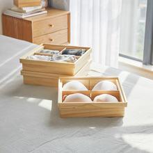 Деревянный ящик для хранения нижнего белья домашний носков бюстгальтеров