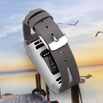 Leather Sport Wristband For Fitbit Charge 3 Buckle Strap Watchband Flower Printed Cowhide Replacement For Fitbit Charge 3 Band