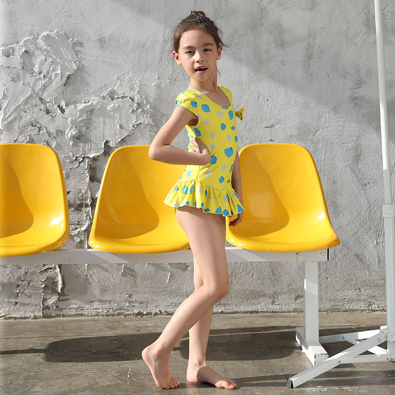 KID'S Swimwear Girls Children Siamese Swimsuit Cute Printed Comfortable New Products