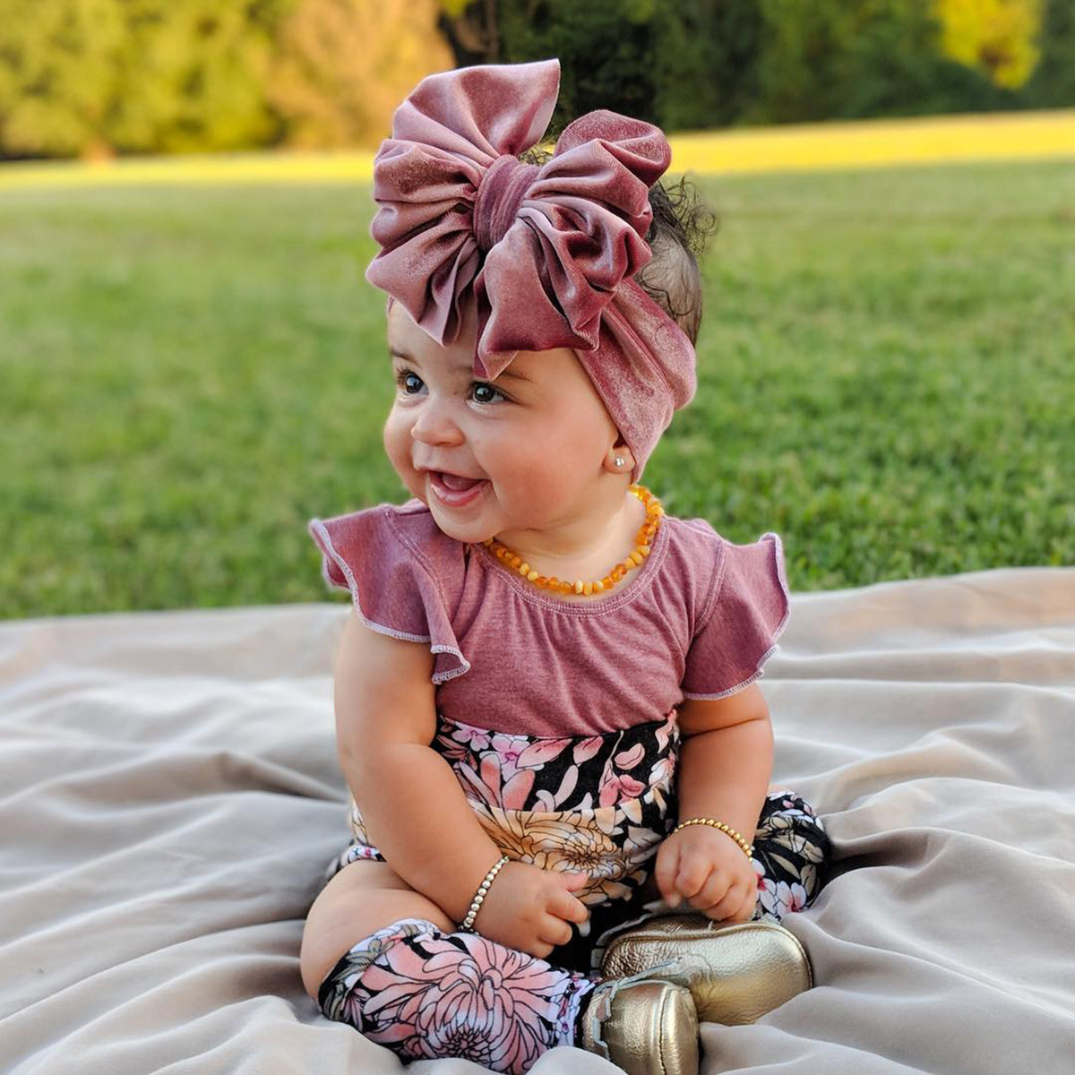 New Large Bow Baby Headband Velet Soft Bowknot Girl Accessories Hair Solid Messy Bows Toddler Headbands Baby Head Wraps Turban