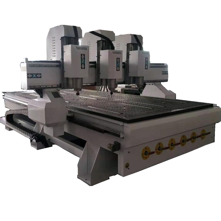 Automatic 3 Heads Wood Carving CNC Router 1325/Woodworking CNC Cutting Machine For Small Business/3d CNC Engraving Equipment