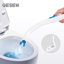 GESEW одноразовая щётка для туалета с длинной ручкой держатель для туалетной щетки замена без мертвых углов набор аксессуаров для ванной