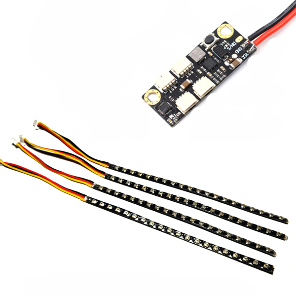 LANTIANRC WS2812 Led Strip Light 20 Lamps 5V 0.23A Control Board Module for RC FPV Racing Drone Night Flying