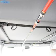 220 cm 스트랩 벨트 자동로드 캐리어 홀더 자동차 트렁크 주최자 Stowing Tidying Fishing Rod Saver Storage