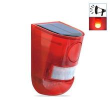 Solar Alarm Warning LED Light IP65 Waterproof Motion Sensor Garden Security Lamp Outdoor