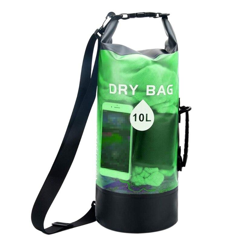 H053 10/20L Waterproof Dry Bag Pack Swimming Rafting Kayaking River Trekking Floating Sailing Boating Storage Backpack
