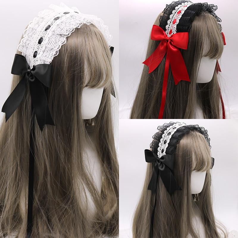 Ручная работа Лолита маленький головной убор повязка для волос KC боковой зажим милые аксессуары для волос японская Лолита украшения для во...