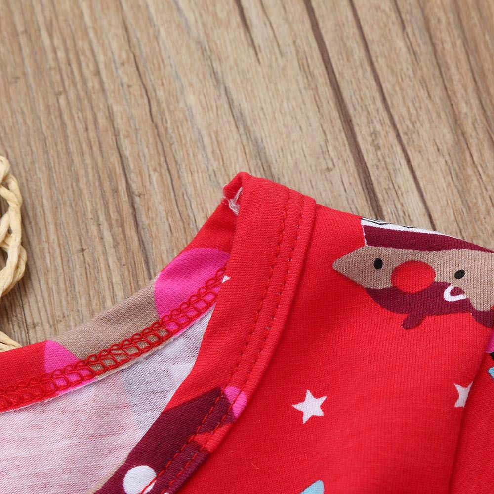 Bebek kız noel giysileri yürüyor çocuk uzun kollu noel partisi prenses kızlar için elbiseler kostüm vestido infantil 3-7Y