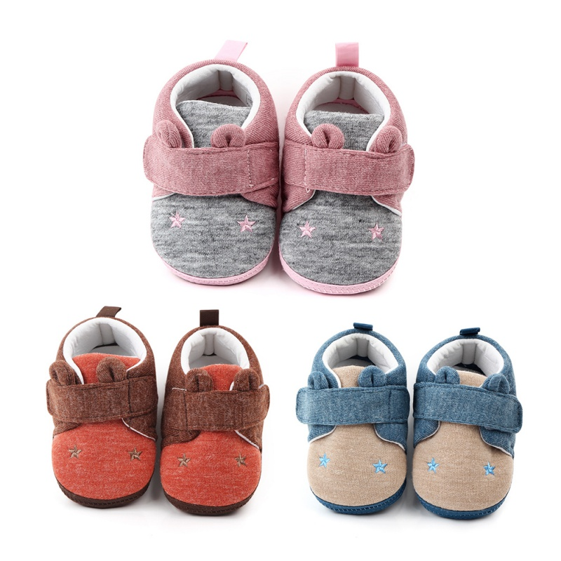 New Infant Newborn Baby Boys Star Print Spring Cartoon First Walkers Sneakers Shoes Toddler Classic Casual Shoes