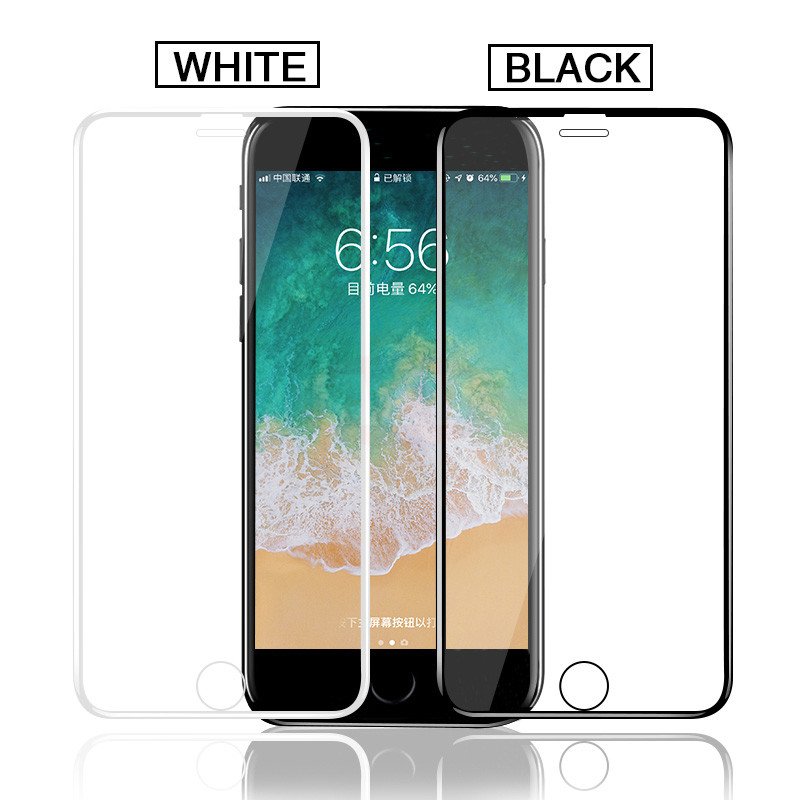 200D Curved Tempered Glass For iphone 7 6 6S 8 Plus Screen Protector On iphone X XS MAX XR Protective Glass on iphone 11 PRO MAX