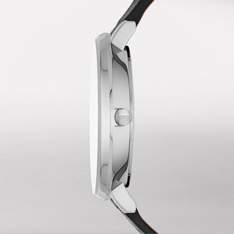 SOLLEN Estilo Simples Relógios Das Mulheres Dos Homens Ultra fino cinto de Malha de relógio de Quartzo Moda Preto Branco Relógios de Pulso Relógio de Quartzo presentes - 2