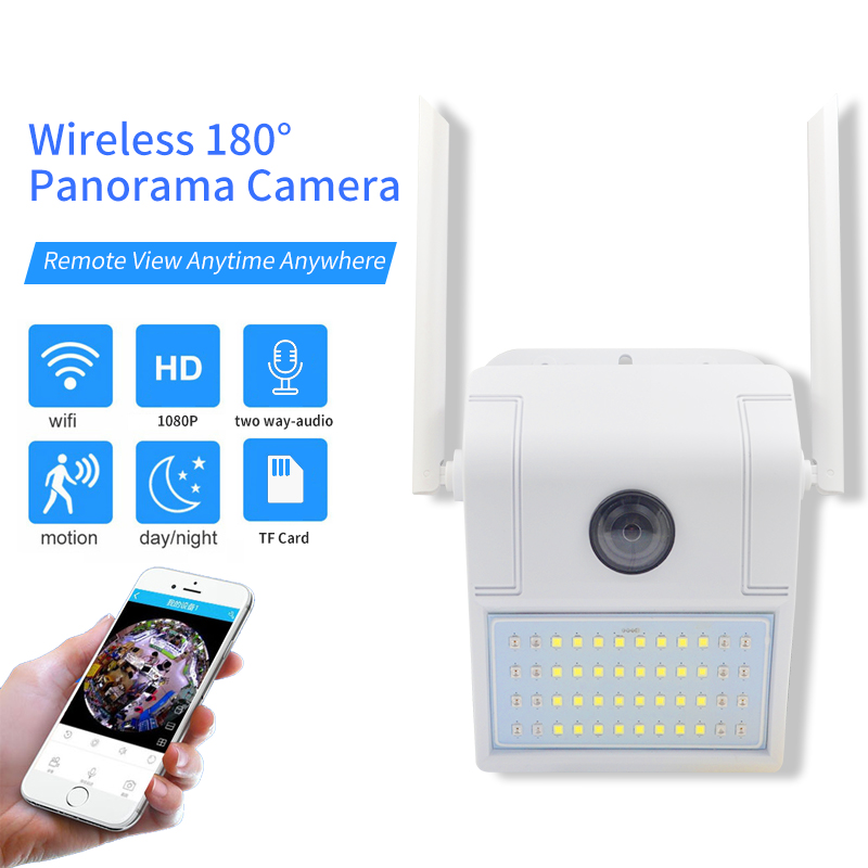 1080P HD Dual Light Source Super Wide-angle Wall Lamp WIFI Network Surveillance Camera Outdoor For Garage Waterproof IR Camera
